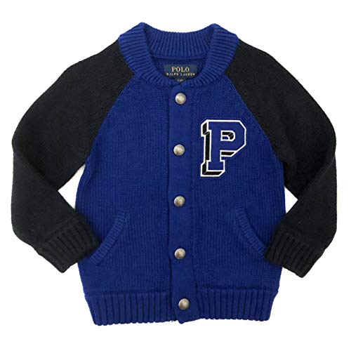 7451416c3 Ralph Lauren Polo New Boys Blue Cardigan Jumper Sweater (2 Years)