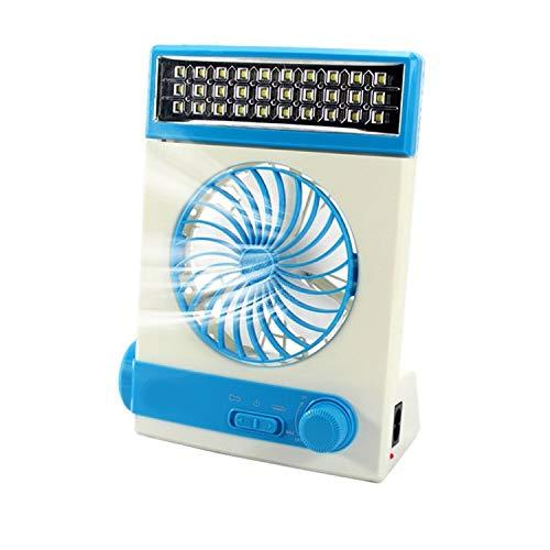 Ta-weo Multifunktions Fan solar Camping licht led Lampe Taschenlampe USB Lade tragbare Outdoor Camp Reisen Fan (Color : Blue)