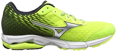 Mizuno Wave Rider 19, Chaussures de Running Compétition homme Giallo (SafetyYellow/Silver/DarkShadow)