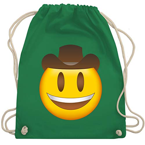 Comic Shirts - Emoji Cowboy-Hut - Unisize - Grün - WM110 - Turnbeutel & Gym Bag