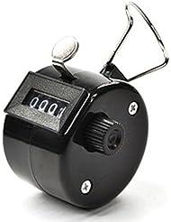 LUPO® 4 dígitos de mano Número Golf Tally Manual Contador Clicker Goleador (Negro)