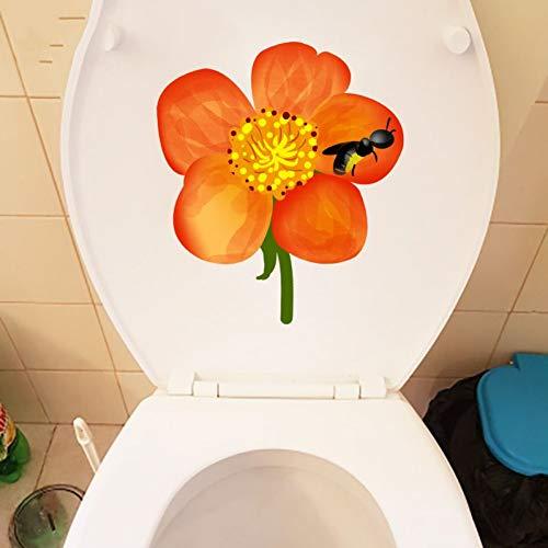 FUJIAMING 17,5 * 20 Cm Frische Bee Nektar Zimmer Wand Aufkleber Aufkleber Wc Wc Dekoration