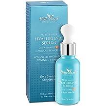 Belle Azul PURE SWISS Serum facial de ácido hialurónico puro de alta calidad suiza con Vitamina C y células madre de Argán Hidrata, tonifica y reafirma 30Mililiter ✔vegano