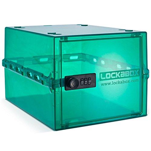 Lockabox-it per una conservazione più sicura   scatola bloccabile compatta e igienica per alimenti, medicinali e articoli per la casa (jade)