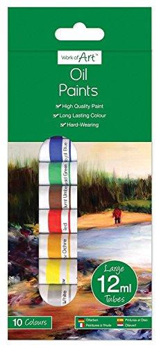 10Öl Farben Röhren 12ml Art Craft Künstler Kinder Hobby Arbeit Farbe Schule Geschenk