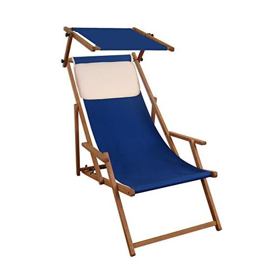 Sdraio Da Spiaggia Legno.Sedia A Sdraio Blu In Legno Di Faggio Scuro Sdraio Da Giardino
