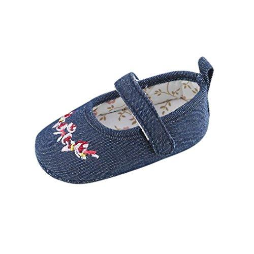 Ouneed® 0- 18 mois BeBe Cotton Premier Bas Chaussures (12cm, Marron) Bleu