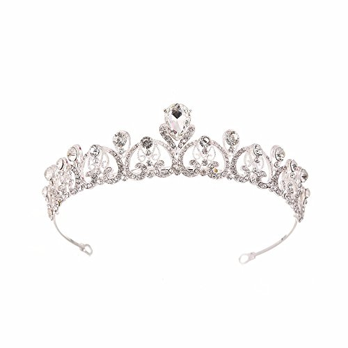 Weddwith Novia Princesa Barroca Cristal Corona Accesorios para El Cabello Adornos para...