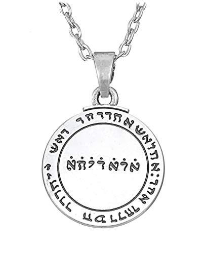 cooltime Jupiter - Collar con Colgante de solomón, diseño de pentáculo talismán de Wicca