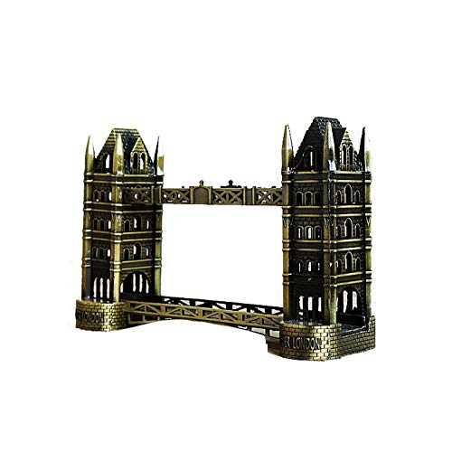 SUPERPOWER® Vintage 6 Zoll London Tower Bridge Weltberühmte Architektur Modell Statuen Überzug Metall Ornamente Sammlerstücke Gebäude Skulpturen Touristisches Souvenir Personalisierte Geschenke (London Bridge-modell)
