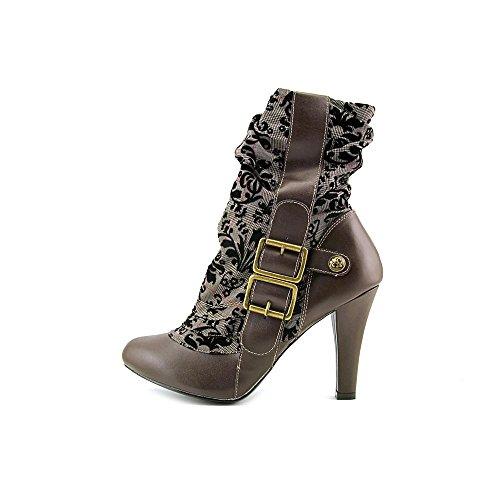 Demonia, Stivali donna Brown Vegan Leather-Tweed