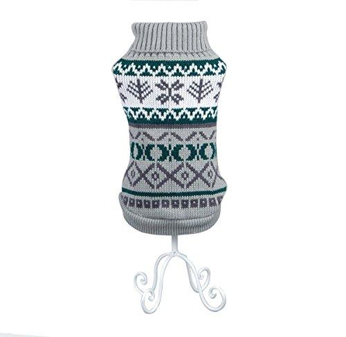 Rantow Ropa de vacaciones para mascotas Perro gato suéter Perro abrigo cálido Puente lindo Ropa de invierno ropa para perros?Gris XL)