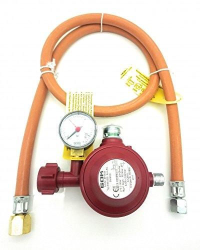 Adapter für USA BBQ Gasgrills - 1m Schlauch und 30 mbar 2 Stufen Regler für mehr Sicherheit
