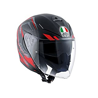 AGV K-5 Jet E2205 Multi - Urban Hunter, Urban Hunter Matt Black/Red, Größe MS