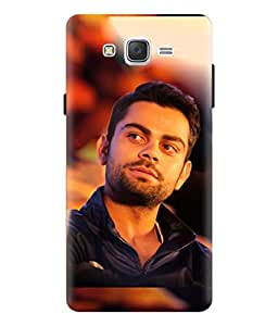Samsung Galaxy J3 Virat Kohli Design Printed Back Cover Hybrid Strong Polycarbonate Hard Case Cover With Premium Quality and Matte Finish by Print Vale