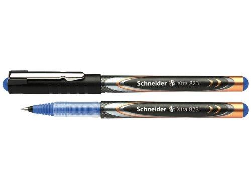 Schneider Xtra 823 Tintenroller (Konusspitze aus Edelstahl, 0,3 mm) 10er Packung blau