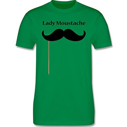 Hipster - Lady Moustache - Herren Premium T-Shirt Grün