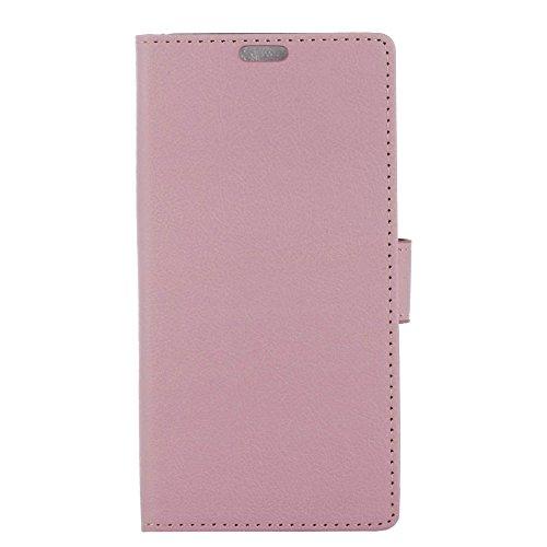 Hülle Doogee X60L, Ledertasche Ultra Dünn [Magnetverschluss] Kartenfach Tasche PU Leder Klapphülle Wallet Handyhülle mit Standfunktion Flip Schutzhülle Schale Pink