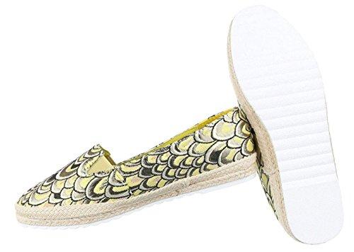 Damen Halbschuhe Schuhe Mokassin Flats Slipper Mit Stretch Schwarz Silber Grün 36 37 38 39 40 41 Grün