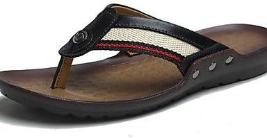 NTX/hombres de zapatos al aire libre/Casual Napa piel/Tejido Sandalias/chanclas negro/marrón/naranja, hombre,...