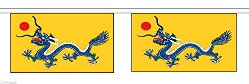 CHINE CHINOIS NOUVEL AN Dragon Horizontal polyester BRUANT de DRAPEAU 3m (10') bannière avec 10 DRAPEAUX