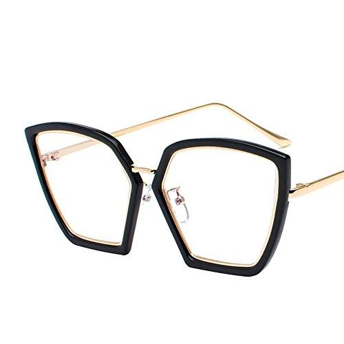 d14e4be5f5 Luziang Gafas de Sol Elegancia Irregular Gafas de Sol Mujer Cara Redonda  Corea Retros Gafas de Sol de la Marea,Conducción Viajar