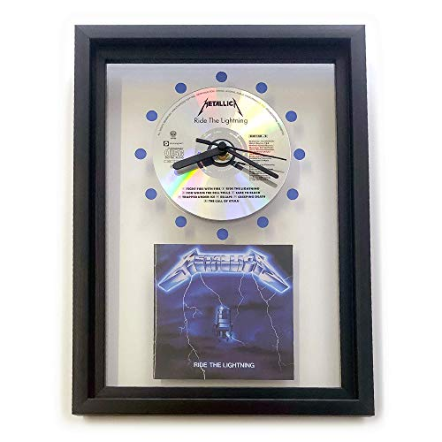 METALLICA - Ride The Lightning: GERAHMTE CD-WANDUHR/Exklusives Design