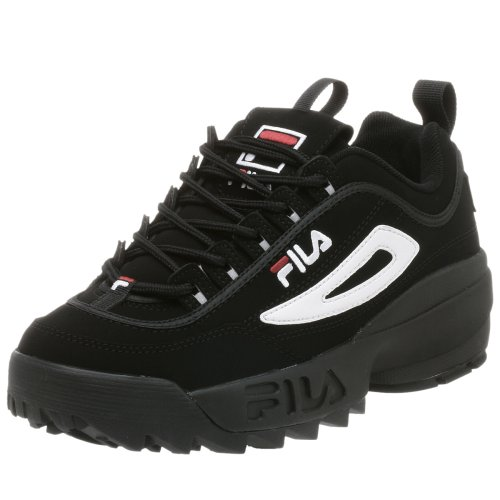 fila-mens-disruptor-ii-sneakerblack-white-red-fabric75-m-us