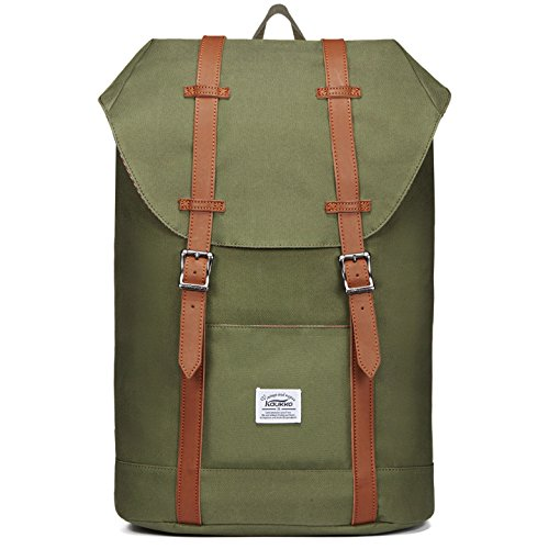 Price comparison product image Men's outdoor canvas backpack shoulder laptop leisure retro by KAUKKO
