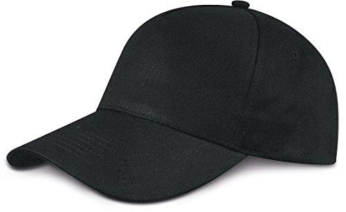 Cappellino da baseball 5 Chiusura a strappo unisex misura tanti colori - Unisex, Cotone, Nero