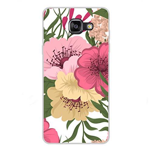 Todo Phone Store Custodia Cover [Disegno] Silicone TPU Gel [Fiori 020] per [Samsung A5 (2016) A510F]