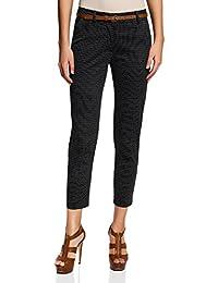 oodji Collection Mujer Pantalones de Jacquard con Cinturón 8e00a3512c3