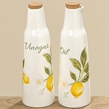 öl Essig Spender öl essig spender flasche limone h23cm porzellan gelbe 8013100