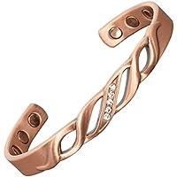 """Damen-Armband Kupfer für Arthritis Gelenkknochen Schmerzlinderung Bio-Magnet-Armband reines Kupfer mit Edelsteinen""""Lady... preisvergleich bei billige-tabletten.eu"""