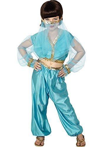 rem Prinzessin Bauchtänzerin Jasmin Harem Kostüm Kleid Outfit - Blau, 6-8 years (Bauchtänzerin Kostüme Kleid)