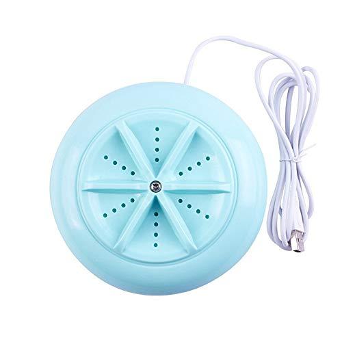 KNDJSPR Mini USB Turbine Spin Waschmaschine, tragbare Wäschereiniger Trockner Waschmaschine, Reise Kunststoff Reinigungsgerät, für Kleidung, Unterwäsche, Socken, grün, 13 * 5,3 cm