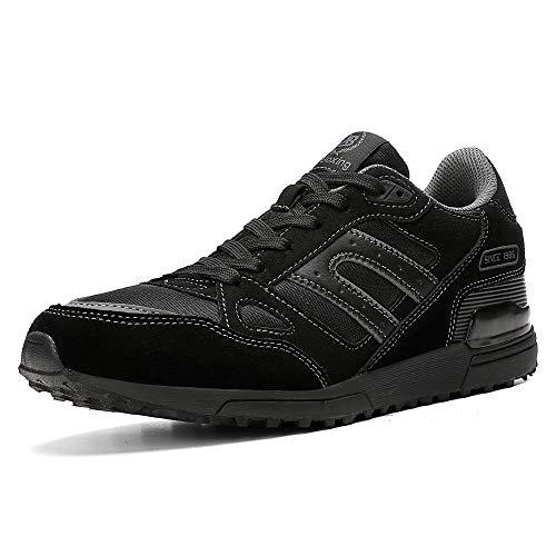 l'atteggiamento migliore 76b35 0dfaf AX BOXING Scarpe Running Uomo Sneakers Sportive Ginnastica Fitness Casual  Basse Trekking all'Aperto 40-46 (42 EU, A8333-nero)