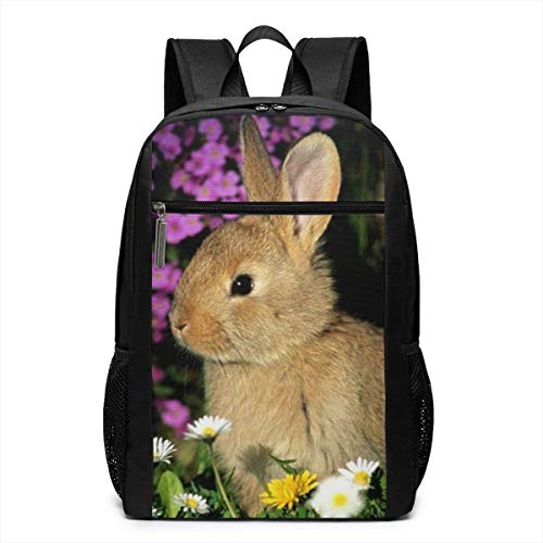 Homebe Rucksäcke,Daypack,Schulrucksack Funny Bunnies Laptop Backpack for Women Men Stylish Backpack College School Backpack Business Travel Durable Backpack Fit Laptop -