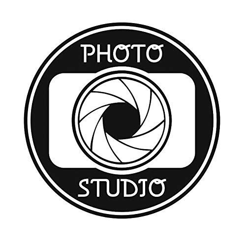 woyaofal Fotostudio Zeichen Vinyl Wandtattoo Fenster Aufkleber Kamera Kunst Dekorationen Für Business Room Office Salon Wanddekor Abnehmbare 42X42 cm