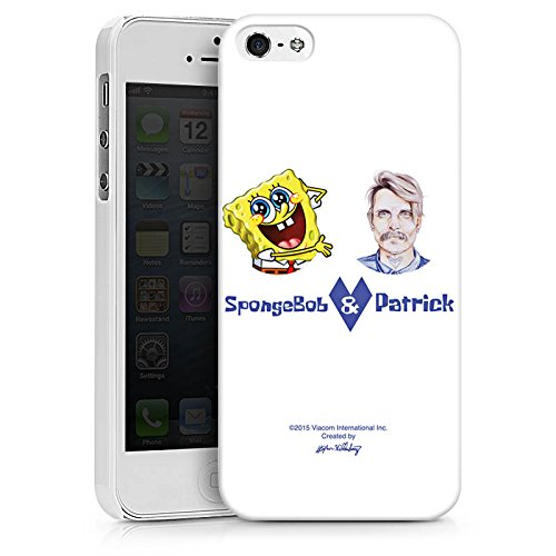 Apple iPhone X Silikon Hülle Case Schutzhülle Spongebob Merchandise Fanartikel Patrick Mohr Hard Case weiß