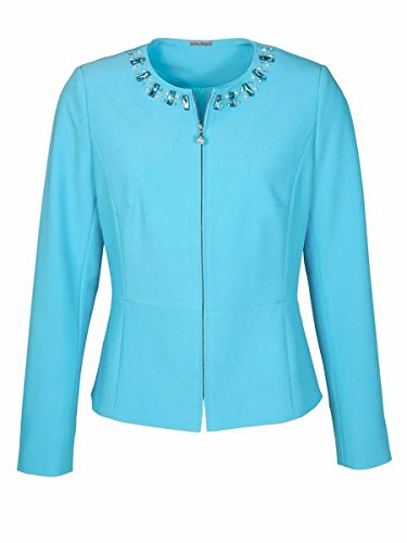 Blazer kurz festlich Ashley Brooke aqua hellblau (42)