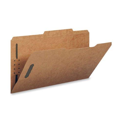 Smead Schnellhefter, 2 Verschlüsse, verstärkt, gerade geschnittene Tab, Briefgröße, Kraftpapier, 50 Stück pro Box (14813) 2/5-Schnitt, rechts von der Mitte 2 Fasteners Kraft