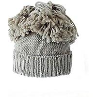 IG Herbst Und Winter Warme Frauen Wolle Hut Wolle Mischung Große Flauschige Ball Hut Stricken Hut Charge