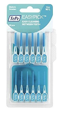TePe Easy Pick Interdental Brush, Blue, Size: M/L, Pack of 1 x 36