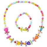 "Best Necklace For Kids - Angel Glitter ""Flowery Heart"" Necklace Bracelet Jewellery Set Review"
