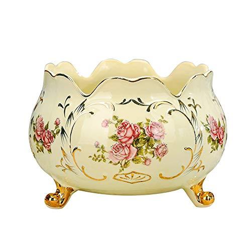 Obstteller Handwerk Porzellan handbemalt bemalten Stil Keramik Speicher Eimer Tischdekoration -