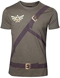 Zelda - Link Costume Homme T-Shirt - Vert - Taille Medium