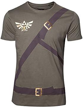 The Legend of Zelda Link Belt Camiseta Aceituna L