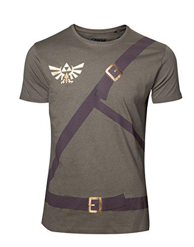 Preisvergleich Produktbild Meroncourt Herren Nintendo Legend of Zelda Men's Link's Shirt with Belts T-Shirt,  Medium,  Military Green,  Green (Military Green),  M