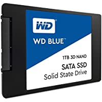 Western Digital WDS100T2B0A WD Blue 3D NAND Internal SSD 2.5 Inch SATA, 1 TB - Black